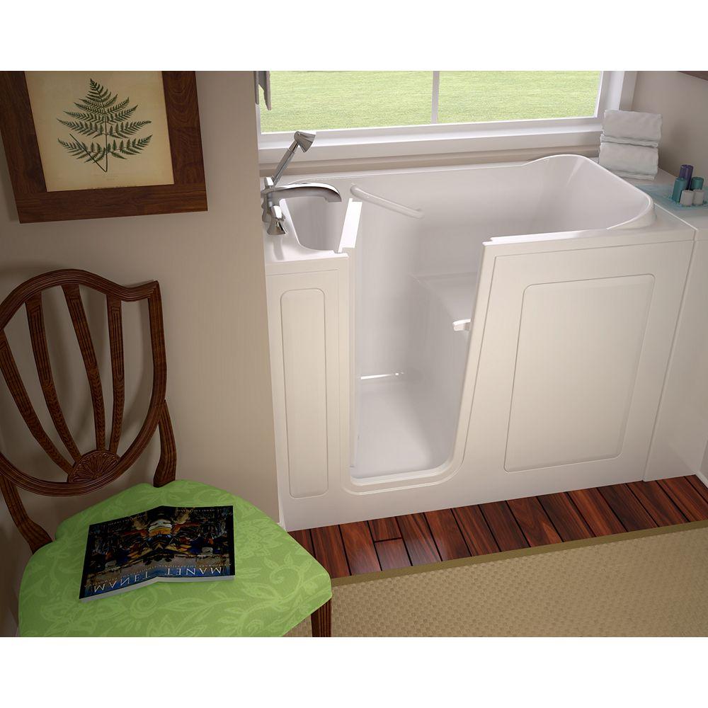 American Standard Gelcoat Walk-In Tub Rectangulaire Whirlpool Bathtub in White