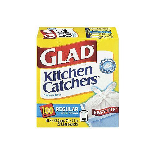 Glad Kitchen Catchers Sacs ordinaires - 48 SACS
