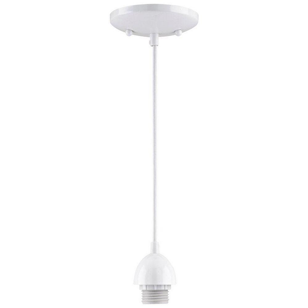 Westinghouse One-Light Adjustable Mini Pendant, White Finish