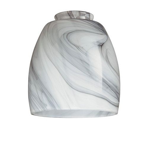 Charcoal Swirl Glass Shade