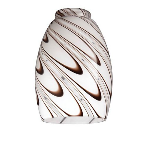 Chocolate Drizzle Glass Shade