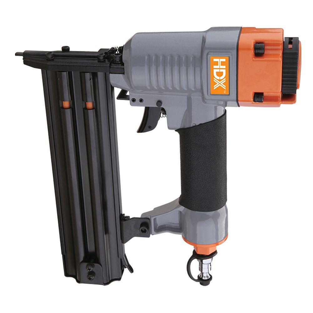 HDX Cloueuse de finition pneumatique, calibre 18 x 2 po