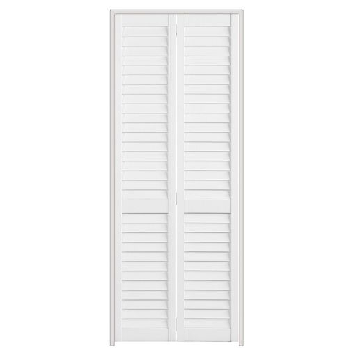 30-inch x 79-inch Full Louvre Plantation Bifold Door