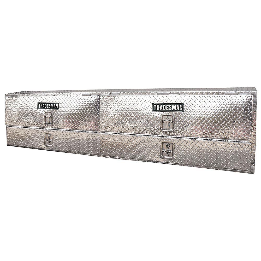 Tradesman Boîte à outils de 96 pouces à montage supérieur pour camionnette, aluminium
