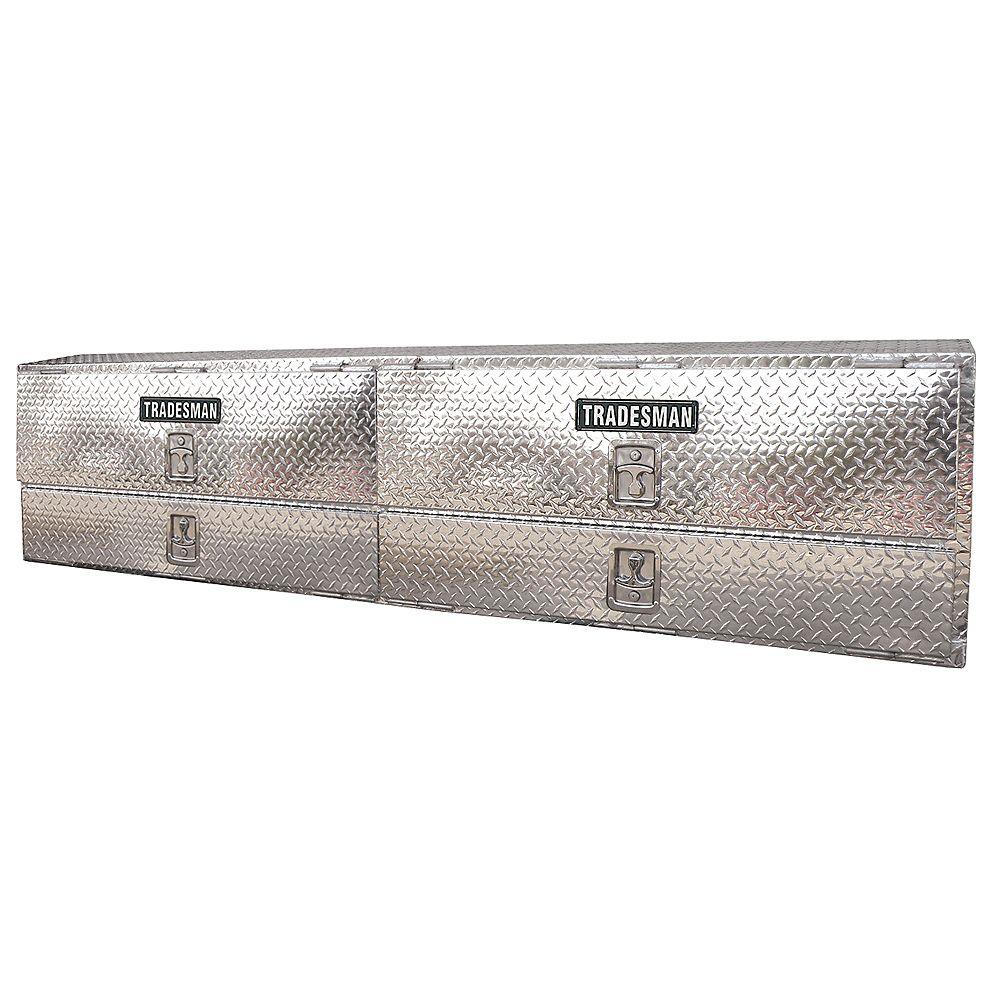 Tradesman Boîte professionnelle à montage sur rail supérieur de 90 pouces, aluminium
