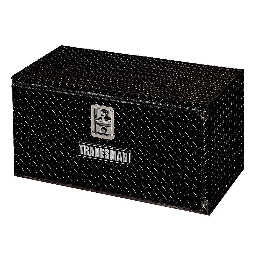 Tradesman Boîte à outils de 24 pouces pour dessous de carrosserie, aluminium, noir