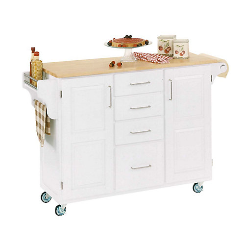 Large White With Wood Top