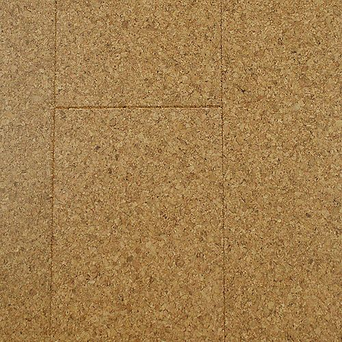 Natural 13/32-inch Thick x 5 1/2-inch W x 36-inch L Cork Flooring (10.92 sq. ft. / case)