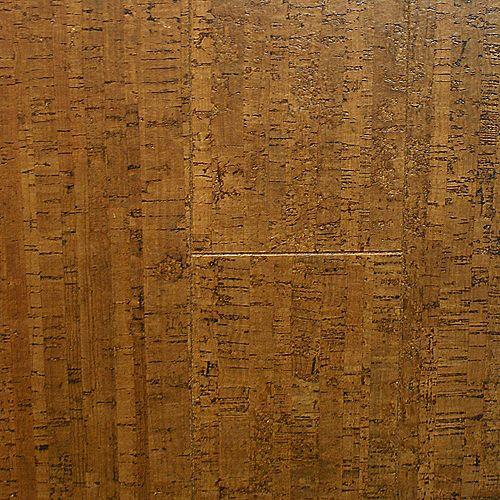 Burnished Straw 13/32-inch Thick x 5 1/2-inch W x 36-inch L Cork Flooring (10.92 sq. ft. / case)