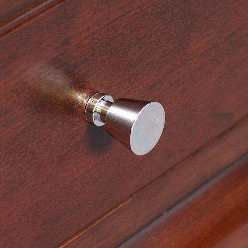 American Imaginations Bouton de cuivre en forme de cône, rond, avec finition de chrome poli