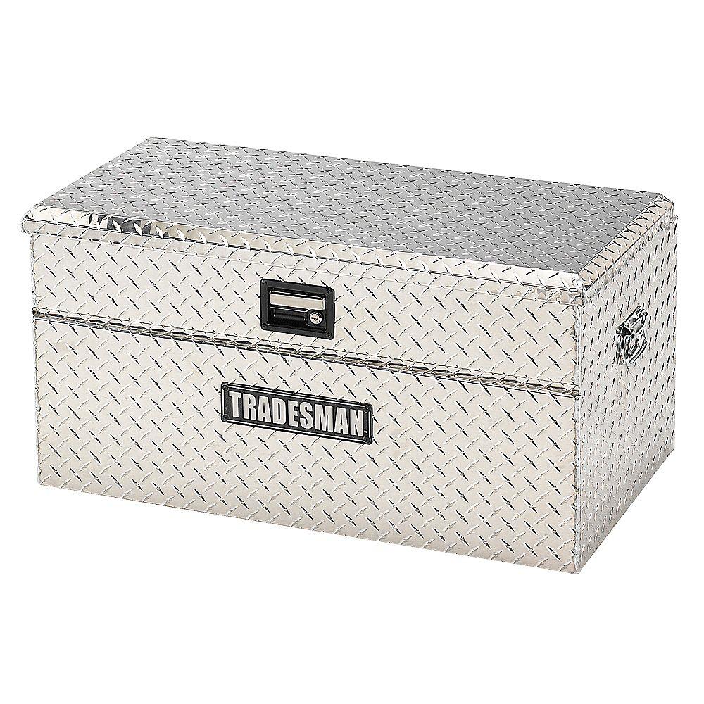 Tradesman Boîte à outils affleurante de 36 pouces pour camionnette, petit format, couvercle simple, aluminium