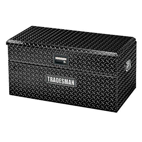 Tradesman 36-inch Small Size Flush Mount Aluminum Truck Tool Box with Single Lid in Black