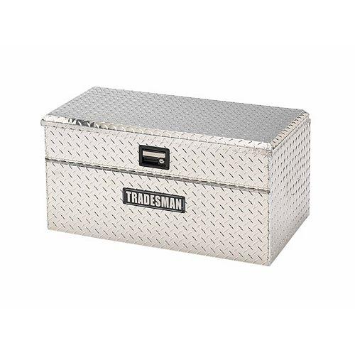 Boîte à outils affleurante de 36 pouces pour camionnette, petit format, couvercle simple, large, aluminium