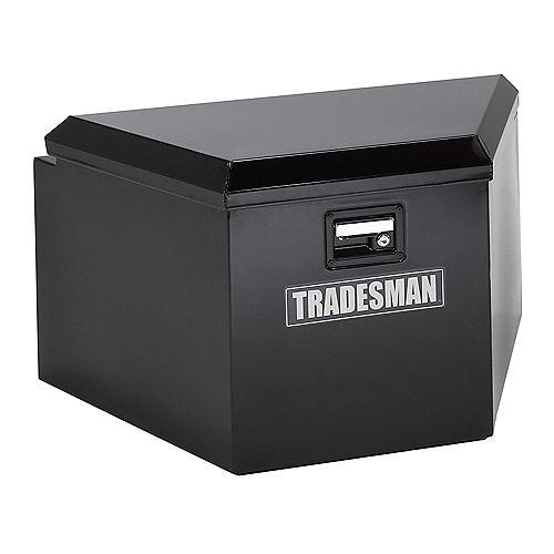 16-inch Steel Trailer Tongue Box in Black