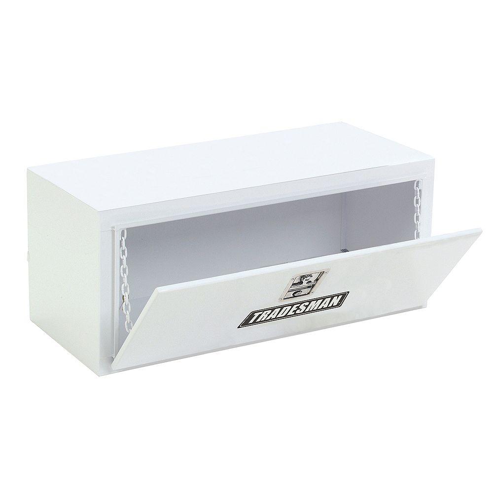 Tradesman Boîte à outils de 36 pouces pour dessous de carrosserie, acier, blanc