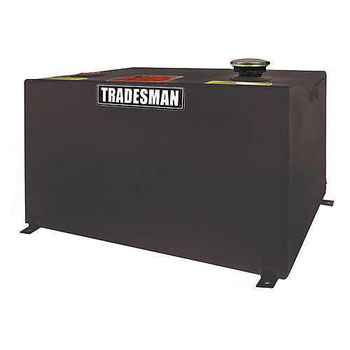 208L/55-Gallon Any Size Rectangular Storage Tank in Black