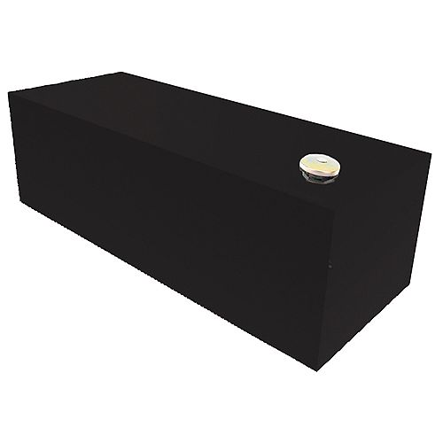 Réservoir rectangulaire, pleine longueur, noir (98 gallons)