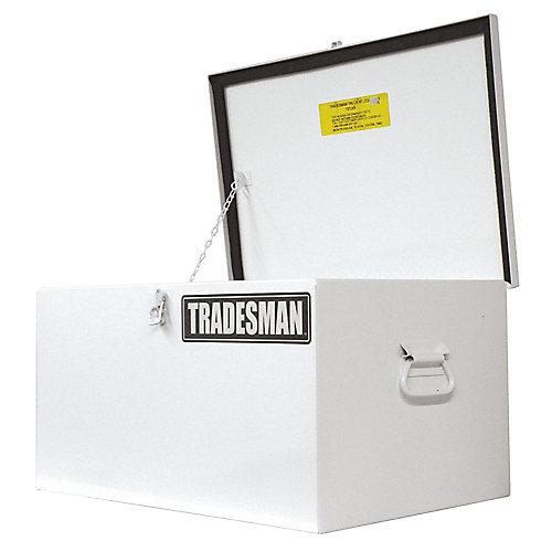 Light Duty Small 24  inch Job Site Box, Steel, White