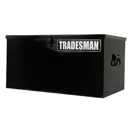 24-inch Light-Duty Small Steel Job Site Box in Black
