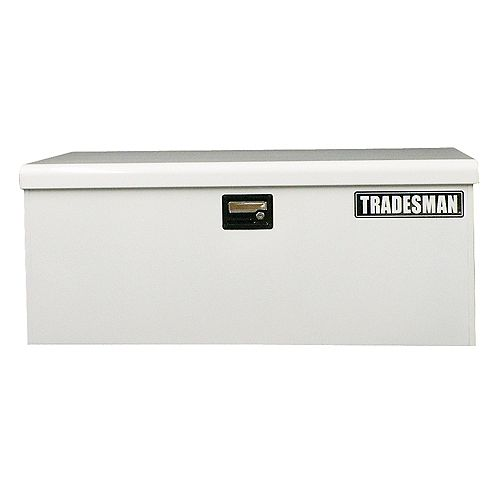 Caisse de chantier de 48 pouces pour service léger, grand format, acier, blanc