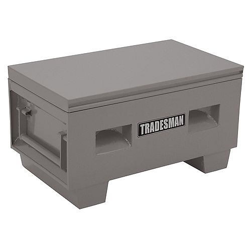 36-inch Heavy-Duty Small Steel Job Site Box in Grey