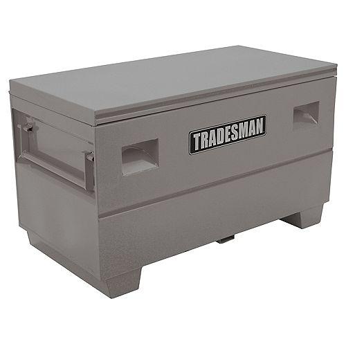 48-inch Heavy-Duty Medium Steel Job Site Box in Grey