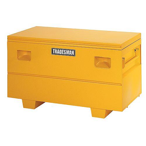 Caisse de chantier de 48 pouces pour service intensif, intermédiaire, acier, jaune