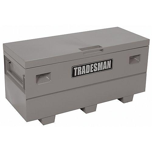 Caisse de chantier de 60 pouces pour service intensif, grand format, acier, gris