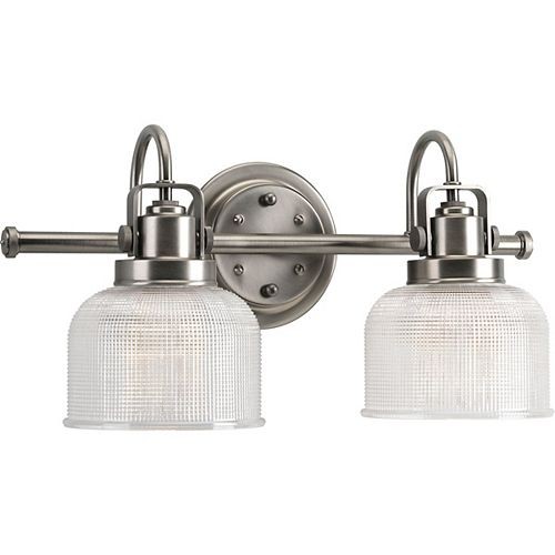 Archie Collection 2-light Antique Nickel Bath Light
