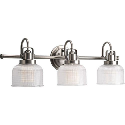 Archie Collection 3-light Antique Nickel Bath Light