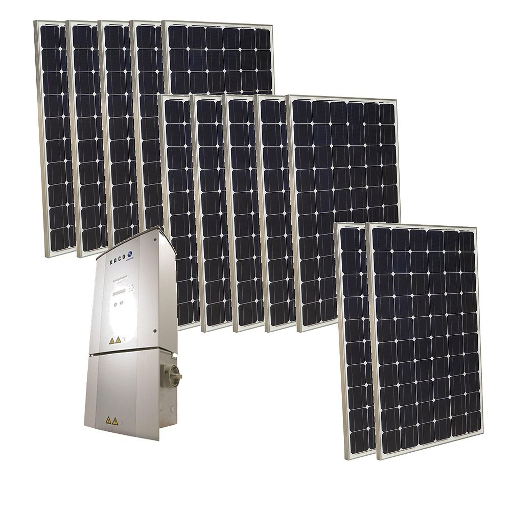 Grape Solar 3,000-Watt Monocrystalline PV Grid-Tied Solar Power Kit