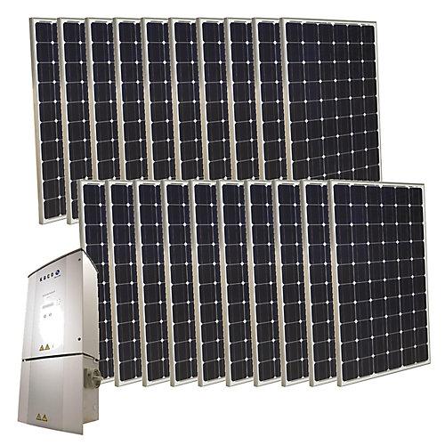 Ensemble solaire interconnecté photovoltaïque monocristallin 5 000 W