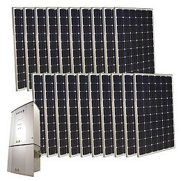 5,000-Watt Monocrystalline PV Grid-Tied Solar Power Kit