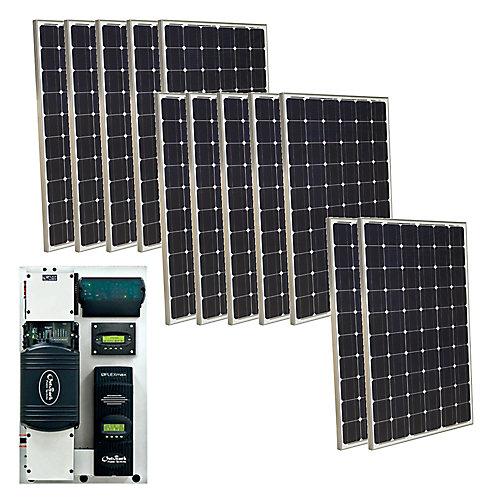Ensemble solaire autonome photovoltaïque monocristallin 3000 W