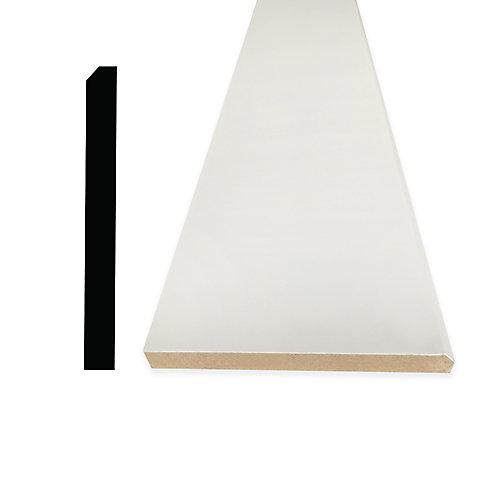 5/8-inch x 5 1/2-inch x 96-inch Modern MDF Primed Fibreboard Baseboard Moulding