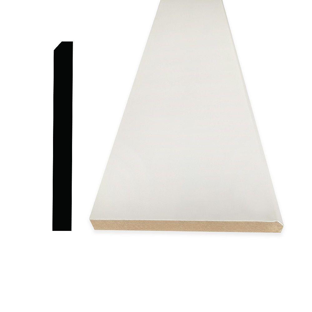 Alexandria Moulding 5/8-inch x 5 1/2-inch x 96-inch Modern MDF Primed Fibreboard Baseboard Moulding