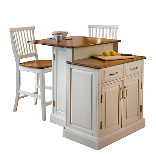 Two Tier Kitchen Island With Matching Stools