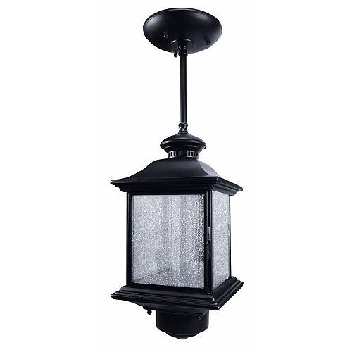 Luminaire suspendu 360degrés Heath Zenith avec verre bullé transparent – Noir
