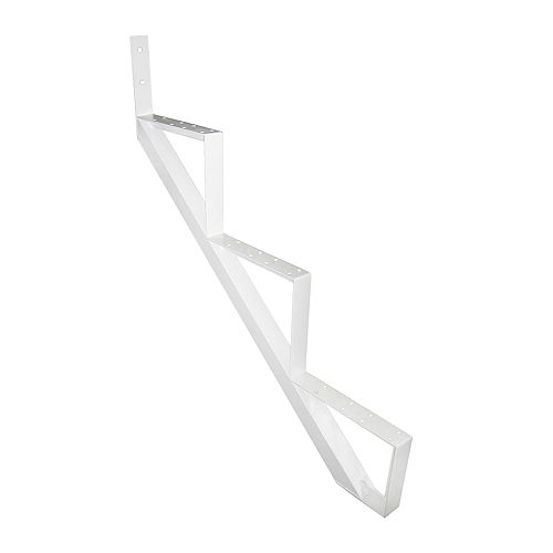 Pylex Collection 10 - 3 Steps Aluminum Stair Riser White 7 1/2 in x 9 1/16 in Includes one (1) riser only