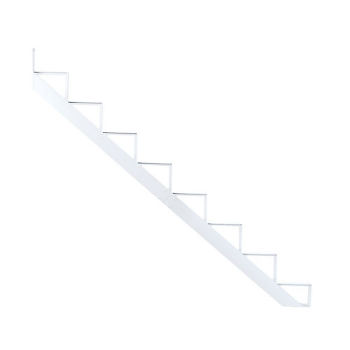 Collection 10_8 Steps Aluminium Stair Riser White_7 1/2 in x 9 1/16 in Includes one (1) riser only
