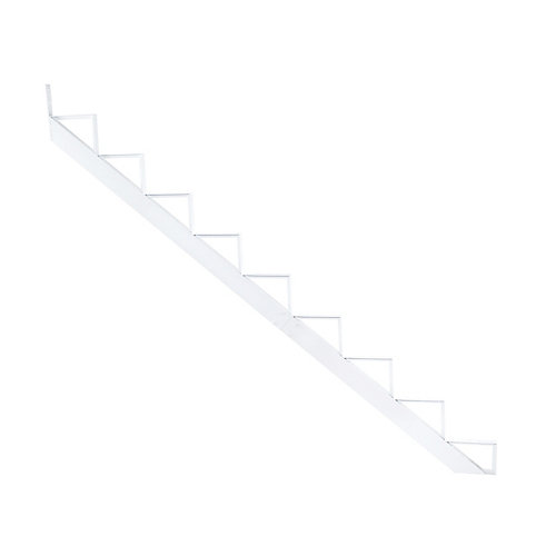 Collection 10_9 Steps Aluminum Stair Riser White_7 1/2 in x 9 1/16 in Includes one (1) riser only