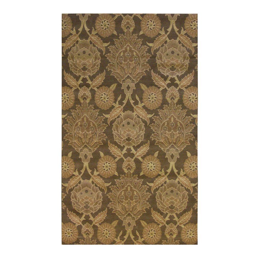 Lanart Rug Carpette d'intérieur, 4 pi x 6 pi, style transitionnel, rectangulaire, brun Jewel
