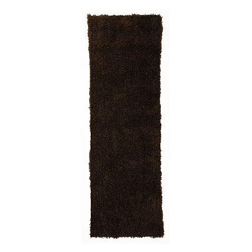 Lanart Rug Kashmir Brown 2 ft. 6-inch x 8 ft. Indoor Shag Runner