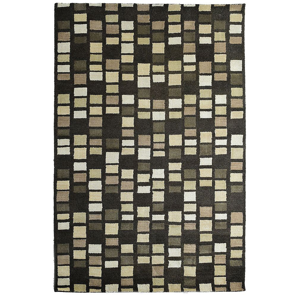 Lanart Rug Carpette d'intérieur, 9 pi x 10 pi, style transitionnel, rectangulaire, gris Palermo