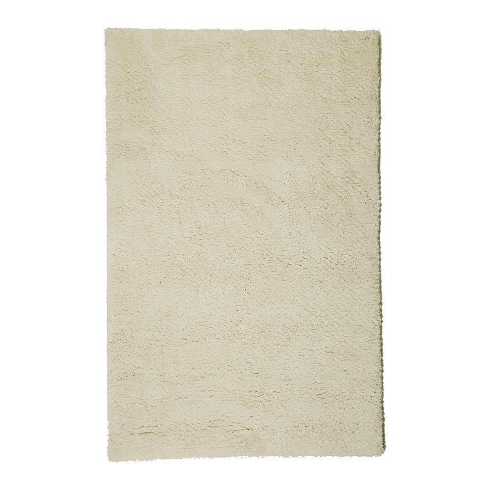 Lanart Rug Carpette d'intérieur, 4 pi x 6 pi, à poils longs, rectangulaire, blanc cassé Arctic