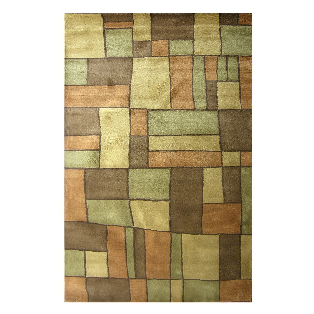 Lanart Rug Carpette, 4 pi x 6 pi, rectangulaire, havane Picasso