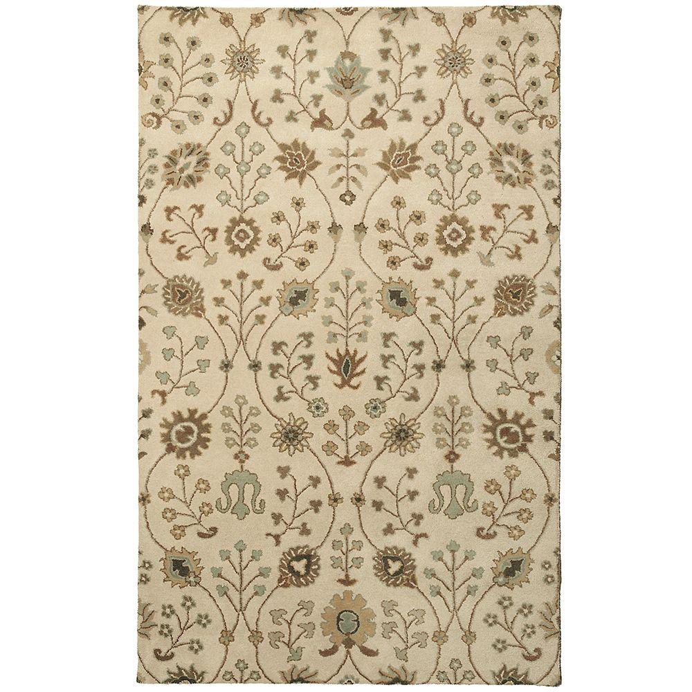 Lanart Rug Carpette d'intérieur, 4 pi x 6 pi, style transitionnel, rectangulaire, havane Provencal