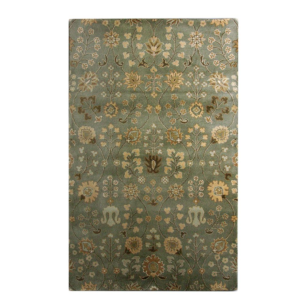 Lanart Rug Carpette d'intérieur, 5 pi x 7 pi 6 po, style transitionnel, rectangulaire, vert Summer Provencal