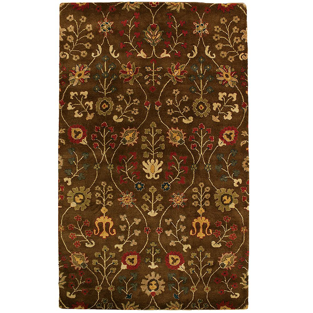 Lanart Rug Carpette d'intérieur, 6 pi x 9 pi, style transitionnel, rectangulaire, brun Autumn