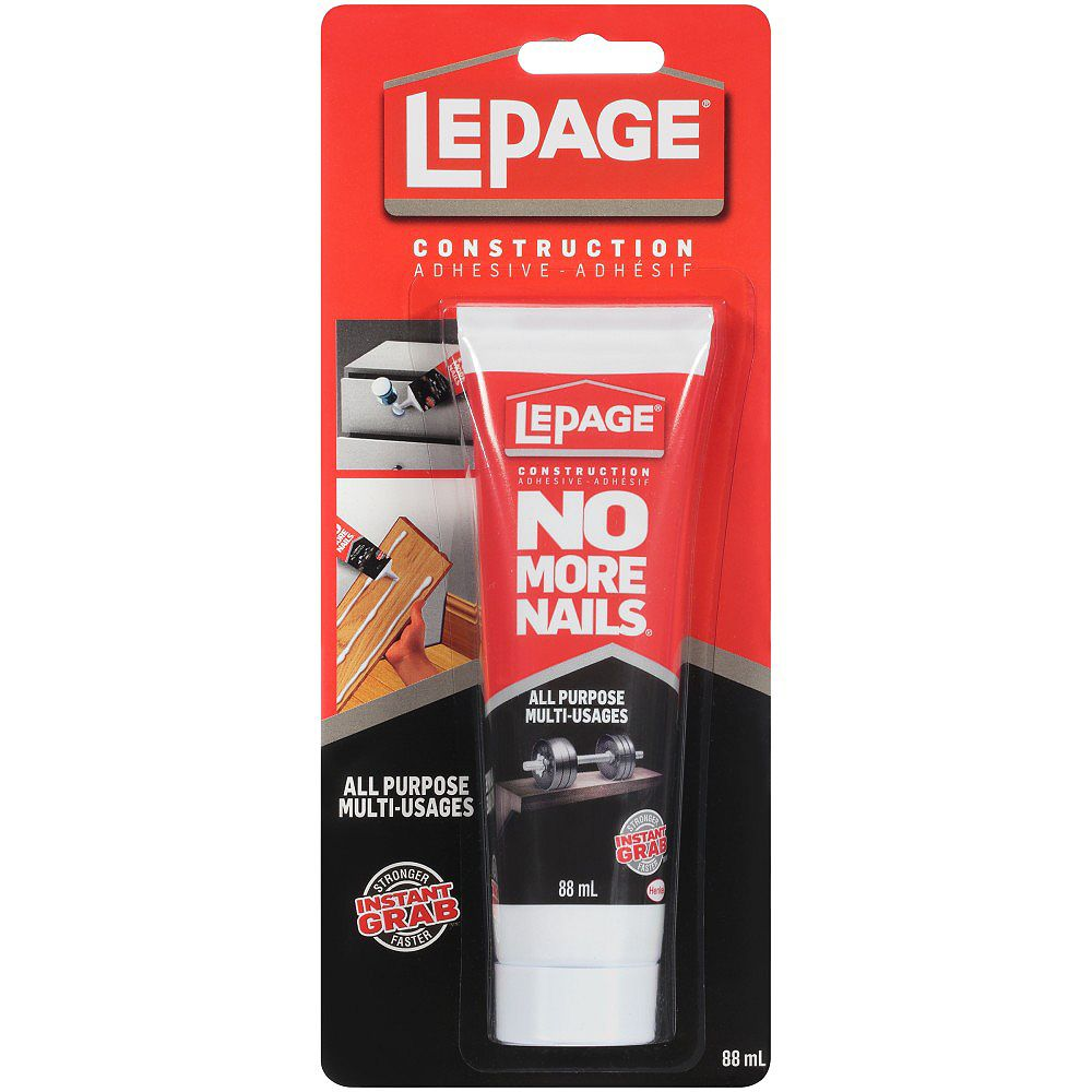 LePage No More Nails All Purpose Construction Adhesive Squeeze Tube 88ml